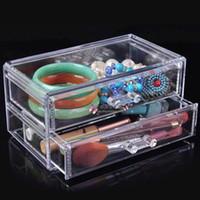 Wholesale Quality transparent cosmetic storage box plastic drawer shelf cabinet desktop storage rack