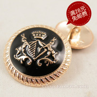 vdoo Diameter 23mm diameter 17mm diameter 15m J129-2 Button monopoly rose gold buckle fashion boutique point black oil pure metal buttons 15-23mm