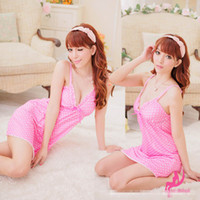 Wholesale Newest Dot Straps Nightgown Hot amp High Quality Brand Sexy Lingerie Fitness Body Suits For Women