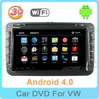 Wholesale 8 quot Android Car DVD player For Volkswagen VW Golf Passat Polo Tiguan Caddy Touran Jetta with GPS Navigation Free WiFi Canbus
