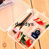 Wholesale Five grid transparent cosmetic storage box kit jewelry box false eyelashes storage box dandys