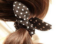 Wholesale bunny ears ring Tousheng rubber band bow head flower hair accessories