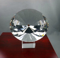 Wholesale Big mm Crystal Clear Faceted Paperweight Cut Glass Large Giant Diamond Jewel