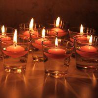 tea cup candles - HOT Sale Glass Tea Light Candle Holder Decorative Restaurant Candle Cup Party Decoration SH296