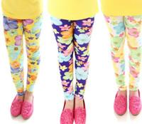 Leggings & Tights big leg pants - For Big Girl New Girls Pants Toddler Clothing Girl s Legging Tights Peony Sun Flower Painting Thinny Child Kid Girl Leggings C1913