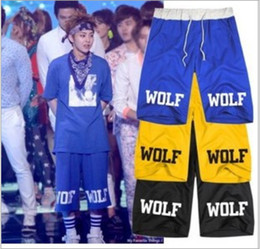 Wholesale 2014 Lovers shorts sweat pants five pants Wei pants men s casual Shorts Harajuku WOLF colors
