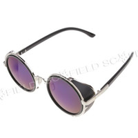 Wholesale Fashion Sunglasses S664 High Nickel Alloy Frame Nylon Resin Lens Blue