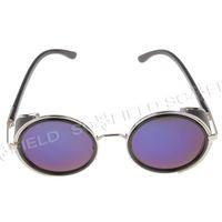 Wholesale S664 High Nickel Alloy Frame Nylon Resin Lens Fashion Sunglasses Blue SO163356
