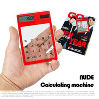 Wholesale Ultrathin Touch screenTransparent solar calculator Mini and cool type