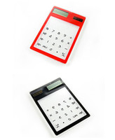 Wholesale Ultra thin Solar transparent multi function touch screen calculator