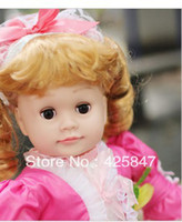 Unisex Birth-12 months PVC [Free shipping] Retail 1 Pcs Intelligent Doll. Reborn Baby Shaking Head .Mouth Movement. Blinking Doll 2013 Bestselling