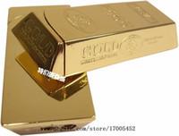 achat en gros de lingots gros-Individualité créatrice tyrans locaux lingots d'or briquets métalliques nouvelle étrange petite ultra-mince flamme de roue briquets gros e210