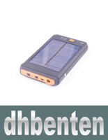 Wholesale LJPD0001 mAh Portable Solar Battery Panel Charger Power Bank Charger With Flashlight For Laptop Camera Cell Phone PC MP3 Tablet Mobi