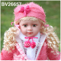 "Unisex Birth-12 months PVC [Free shipping] Retail Intelligent Bobbi Doll babies Gifts Story telling Timekeeping Talking Doll 60cm 24"" Reborn Baby"
