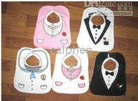 Black baby tuxedo bib - KIDS BLACK WHITE TUXEDO SUPERMAN BABY FEEDING BIBS EATING TOP ems free