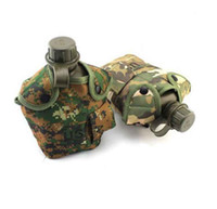 Wholesale camo kettle outdoor multifunction kettle combination packages with aluminum boxes camouflage fabric cover