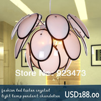 Art Deco 220V LED Wholesale New Free Shipping modern Chandeliers fashion glass art led pendant lamp for living room square design light lamp Art deco light
