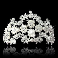 Wholesale Top Quality Luxury Queen Wedding Bridal Tiaras Jewelry Bling Crystal Hair Ornaments Hair Accessories EM01148