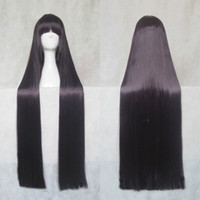 Wholesale Anime Manga Games Cosplay Wig Cosplay cm Black Purple Shirakiin Ririchiyo Inu x Boku SS