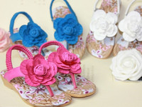 Wholesale Wholesales summer new Baby Kids shoes Children s grils princess flower beach sandals shoes YM