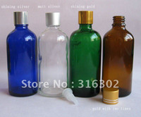Glass Yes Essential Oil (DHL)Free Shipping -200 lot,100ml glass essential oil bottle with gold aluminum cap, cosmetic container,packaging
