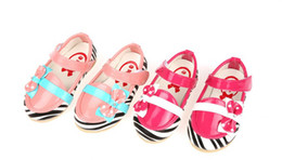 Wholesale Drop shipping princess casual shoes Zebra baby shoes color matching bow toddler shoes children shoes baby wear pairs ZM