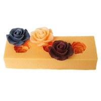 Silicone Rubber bake sale cakes - Hot sale F0045 silicone mini flower cake decoration mold fondant cake moulds stencil candy form Diy baking tools silicon choclate moulds