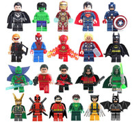 Wholesale legos Super heroes set Superman Batman spider man USA team Hulk Legos compatible toys without the original box