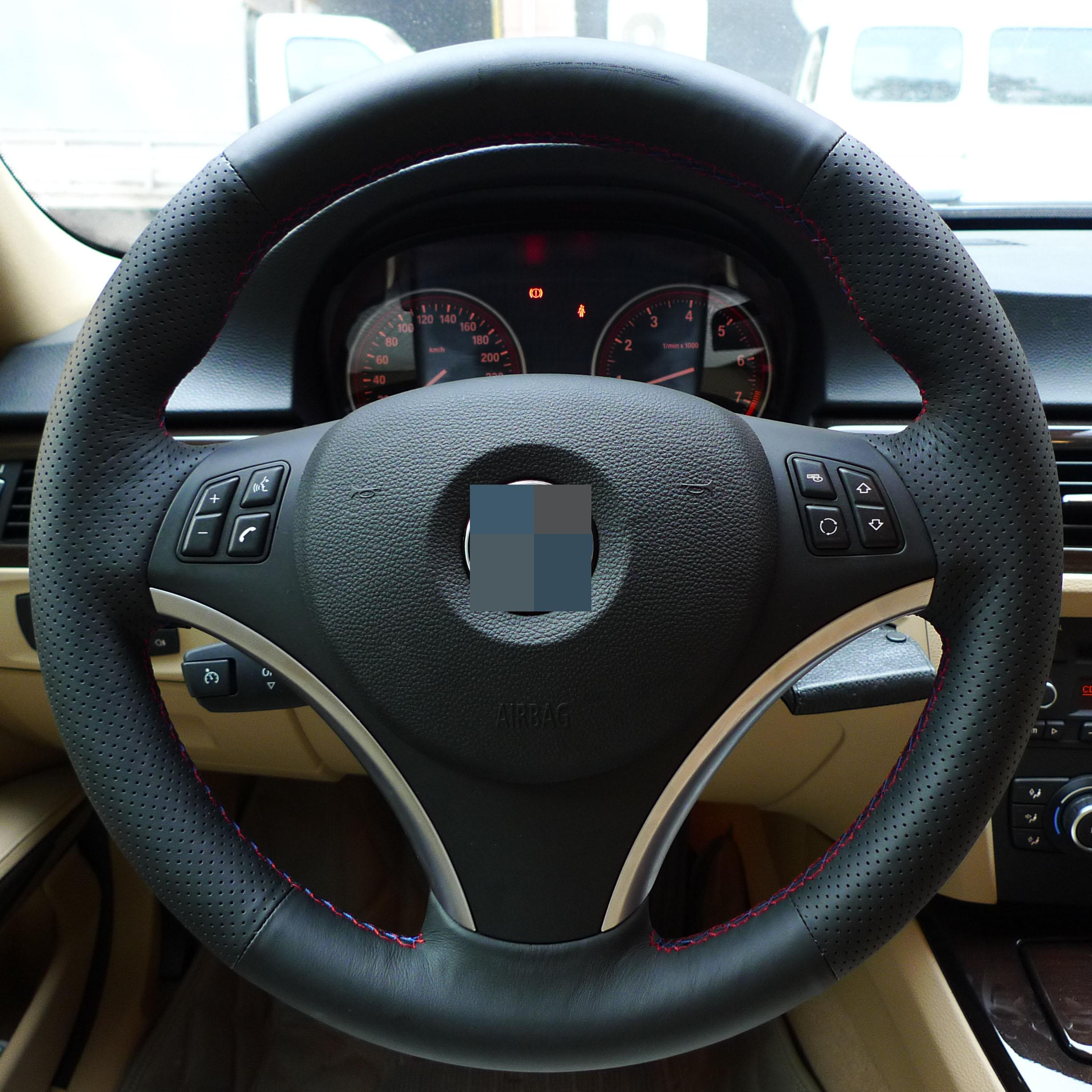 Xuji steering wheel cover for bmw e90 325i xuji car special hand stitched black genuine leather wheel covers for bmw 325i for 325i for 325i bmw online with