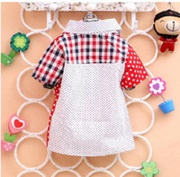 Wholesale 2014 Spring New Children s Boy Baby Very Cute British style Sub Dot Short Sleeved Shirt red