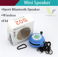 Wholesale SF Free DHL New arriver bluetooth portable wireless Sports Speaker mp3 player with FM TF card Handsfree Microphone