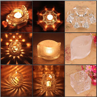 Wholesale European Style Clear Crystal Glass Candle Holder For Home Decoration Wedding Supplies