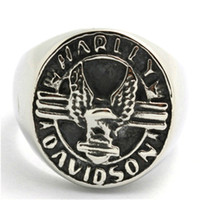 Wholesale Mens Boys L Stainless Steel Cool Eagle Biker Silver Newest Ring
