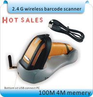 TXT barcode scan guns - New G wireless laser scanner express scan code scanner wireless barcode scanner gun with storage