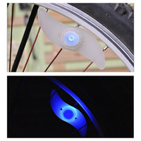 Wheel Lights LED <100 LM New Bike Bicycle LED Lights Motorcycle Electric car Wheels Spokes Lamp Silicone 4 colors flash alarm light cycle accessories Free Shipping