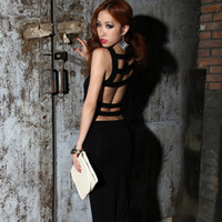 Sheath krazy dresses - Krazy fashion normic elegant vest bag slim sexy racerback a slim hip long one piece dress ladys dress