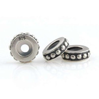 Silver authentic vintage jewelry - European DIY Jewelry compatible with pandora Bracelets Authentic Sterling Silver Interval Bead Vintage Silver Bump Beads ST018