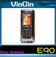 4.0 Symbian 128M 100% Original E90 unlocked 3G GSM mobile phone QWERTY 4.0 inch WIFI GPS 3.15MP free shipping Refurbished