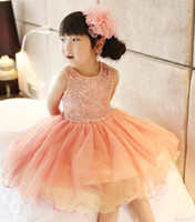 Reference Images Girl sequins  WM 2014 New Arrival Hot Little Lovely Flower Girls' Dresses Popular Jewel Sequins Layout Sparkly Ankle-Length Ball Layered Pageant Nice Gown