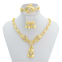 Bracelet,Earrings & Necklace jewelry made in china - Unique Rhinestone Elegant Flower Shape Charming Necklace Set Costume Jewelry Made In China For Women A039