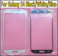 Wholesale Touch Screen Outer Glass Lens Front Glass Replacement for Samsung Galaxy S4 SIV i9500 White Blue BLack