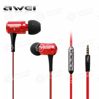 Wholesale AWEI TS vi Earphone Remote Volume Mic Handfree for LG iPhone S Samsung HTC S5 i9600 iPod Mobile Cell Phone Headphone
