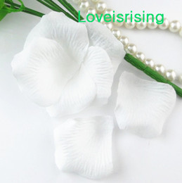10 packs(1440pcs) White Non-Woven Fabric Artificial Rose Flower Petal For Wedding Party Favor Decor-Free Shipping