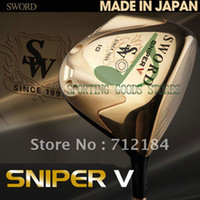 Wholesale 2012 New Golf Clubs KATANA Sword Sniper V Golf Driver graphite shaft With Club head covers