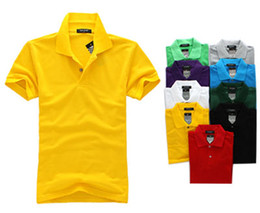 Wholesale 2014 Spring Hot Sale Mens Cotton Casual Turn down Collar Polo Shirt Colors Short Sleeve big size M XXXL