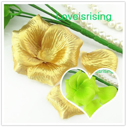 5 packs(720pcs) Gold Non-Woven Fabric Artificial Rose Flower Petal For Wedding Party Favor Decor-Free ShippingW