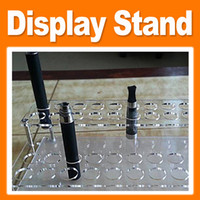 Wholesale Acrylic eGo Base Electronic Cigarette Display Stand Holes Exhibition Shelf Detachable Holder for E Cigarette EGO Ecigs DHL