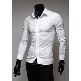 Dress Shirts Fashion Mens Cotton and Breathable Casual Shirts Hot Mens Long Sleeve and Slim Shirts