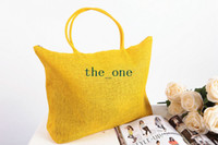 Beach Bags beach bag straw - hot beach bag candy bag travel bag Summer Big Straw Shoulder Tote Shopper Beach Bags Purses knit bag EMS