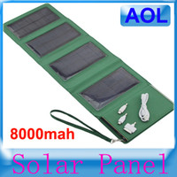 0-20 W solar charger laptop computer - new Receive bag folding mobile power mah solar charger panels solar mobile tablet computer digital camera Outdoor sports